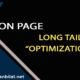 ON SITE OPTIMIZATION | LONG TAIL OPTIMIZATION