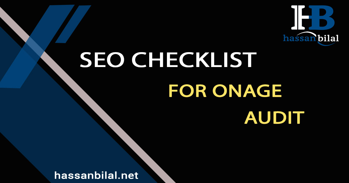 SEO checklist for an on-page audit